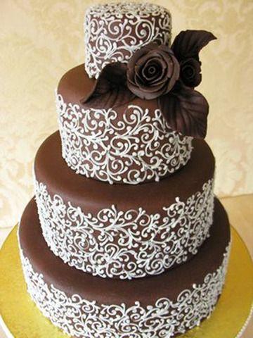 Chocolate #Wedding cake