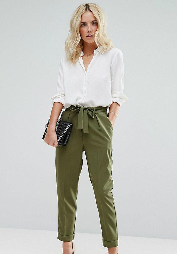 Укороченные женские брюки: как называются, с чем носить (фото)