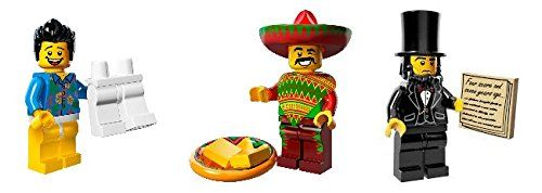 "Lego Movie Minifigure Lot - ""Where Are My Pants?"" Guy, Taco Tuesday, and Abraham Lincoln LEGO"