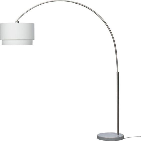 Meryl arc floor lamp grey floor lamps and crate and barrel for Meryl floor lamp shade replacement