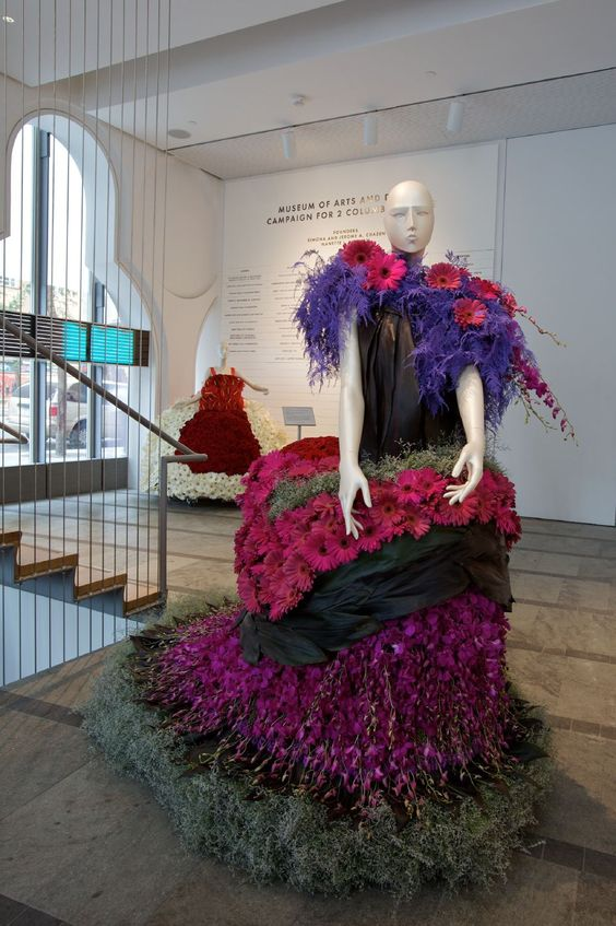 Flowerdresses by Niels van Eijk and Miriam van der Lubbe at the Museum of Arts & Design - New York City