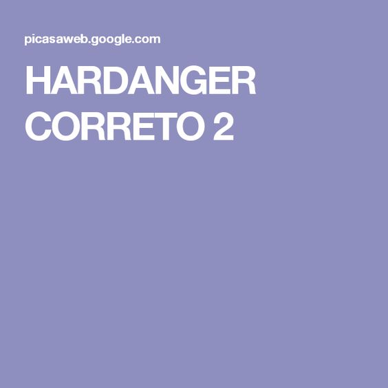 HARDANGER CORRETO 2