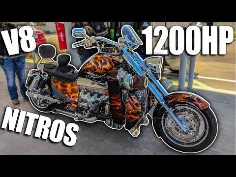 1200hp Twin Supercharged V8 Nitrous Motorcycle Youtube Nitrous Motorcycle Twins