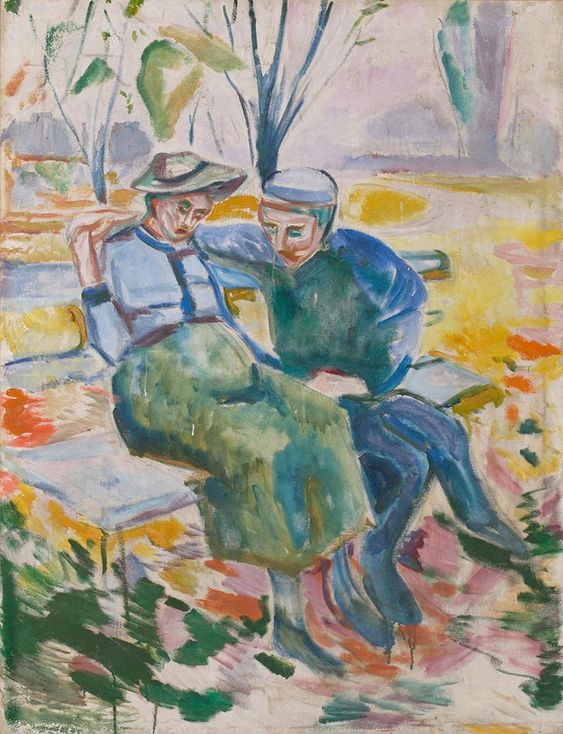 Two People on a Bench 1916 / Oil on canvas / 131 x 101 cm Munch Museum: