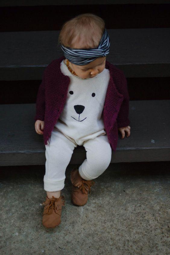 Polar bear face romper, Harem Romper, Baby Romper,Cream Romper by AnchoreDeep on Etsy https://www.etsy.com/listing/218809334/polar-bear-face-romper-harem-romper-baby