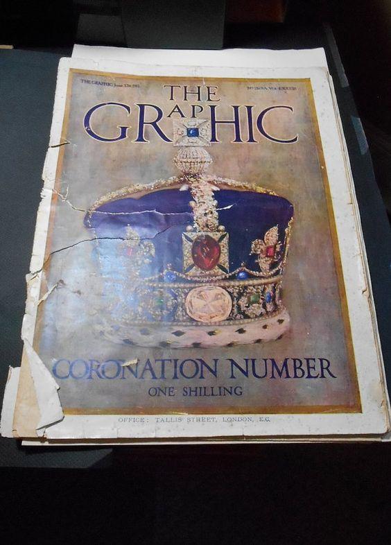 Vintage June 27 1911  The Graphic  Coronation by HeartstoneShoppe