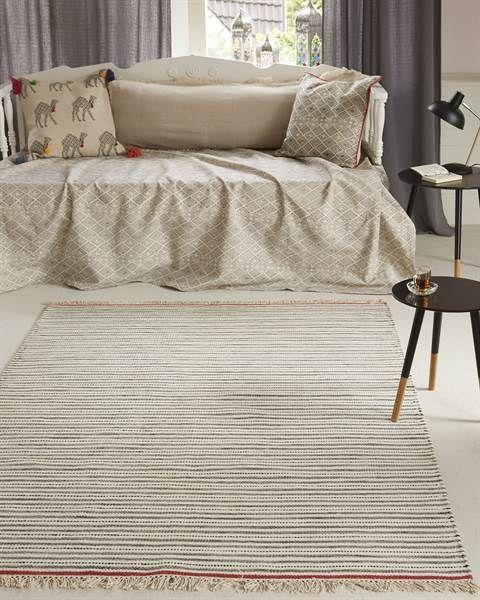 Teppich gestreift, Baumwolle   Streifenteppich, Haus deko