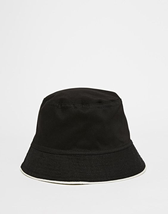 ASOS Reversible Bucket Hat In Black And White