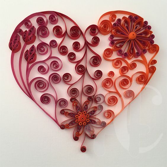 Shops quilling and heart on pinterest for Quilling heart designs