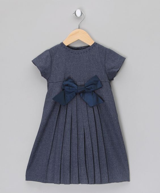 Wool Dress with Taffeta Ribbon - Infant, Toddler & Girls by Malvi & Co.