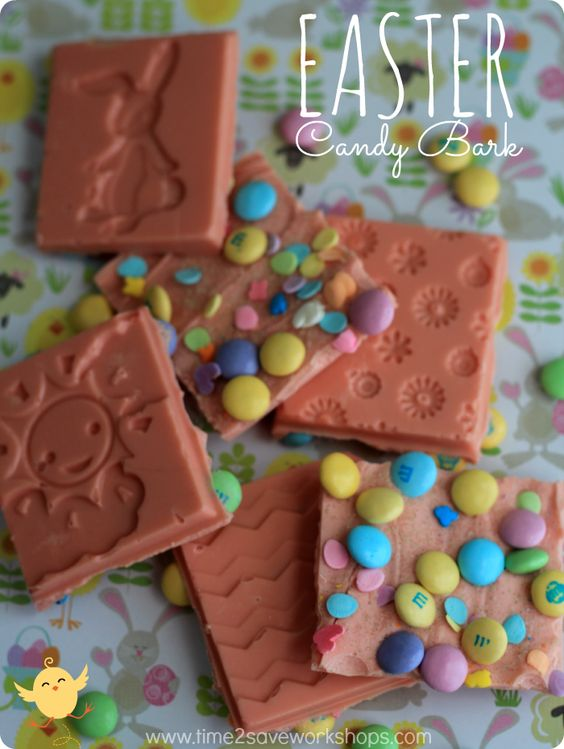 Easter Candy Bark #easyrecipes #easter #spring #goodcook