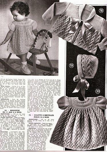 modele tricot layette retro