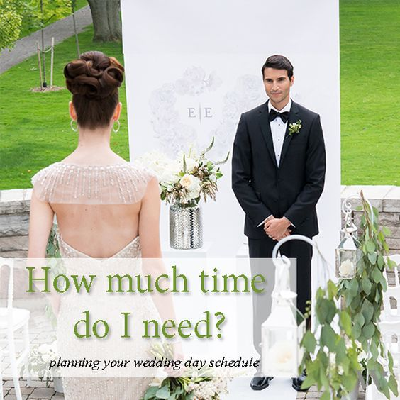 Putting Together A Wedding Day Schedule Can Be A Daunting