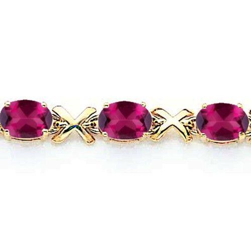 14KY Rhodolite Garnet Bracelet