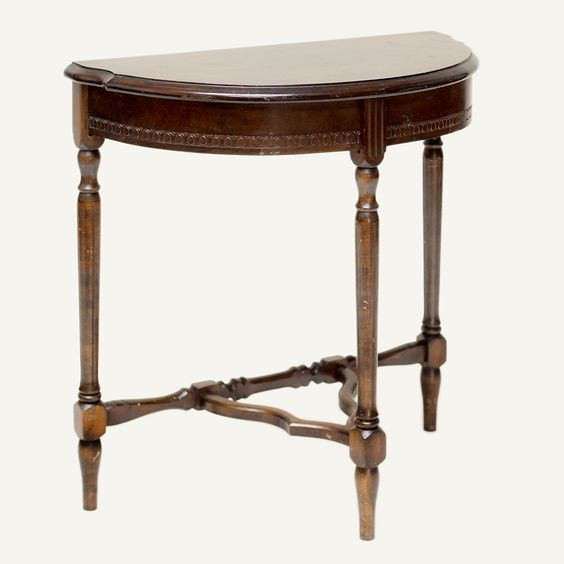 frances accent table small mahogany half moon shaped accent table master bedroom pinterest. Black Bedroom Furniture Sets. Home Design Ideas
