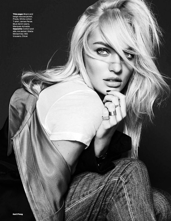 Model Candice Swanepoel, photographer Kai Z Feng for Elle, UK, December 2013