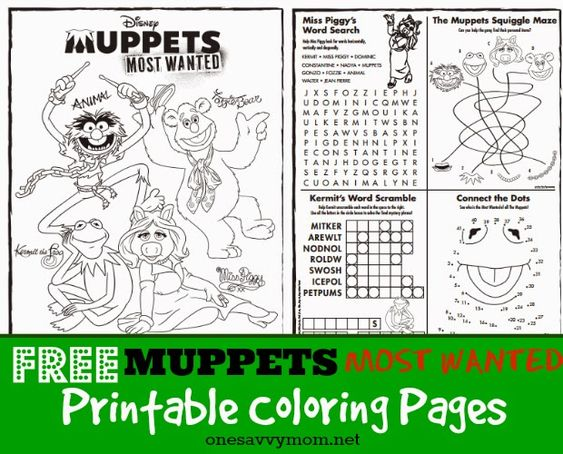 Pin By Cindy Olson On Muppets Frogs Muppets Most Wanted Muppets Coloring Pages