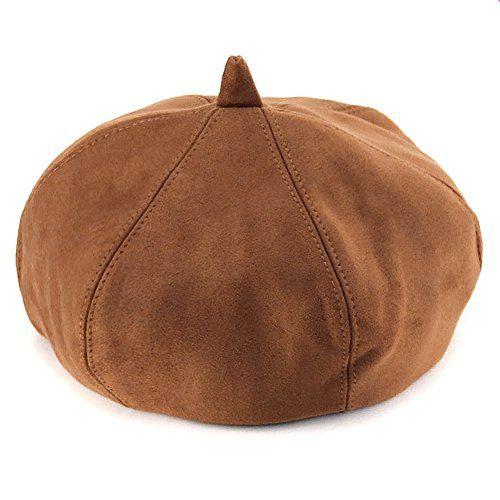 Locomo Hats Locomo Men Women Faux Suede French Beret Plain Color Artist Hat Ffh390bei French Beret Faux Suede Hats