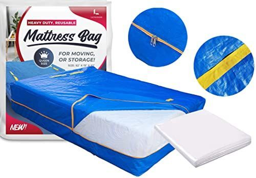Queen Mattress Bag Cover For Moving Or Storage 5 Mil Heavy Duty Thick Plastic Wrap Protector Reusable Bags Supplies With Images Twin Mattress Queen Mattress