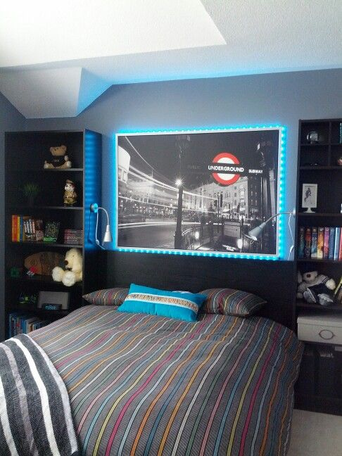 Bedrooms teen boy rooms and boy rooms on pinterest for Amazing teenage bedroom ideas