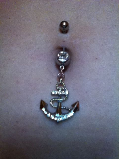 My anchor belly ring