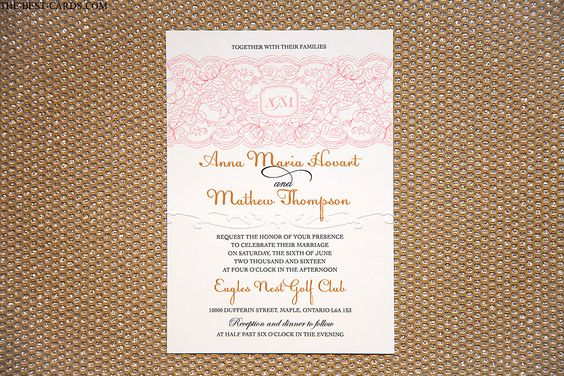 Best Value Wedding Invitations with Lace Graphics