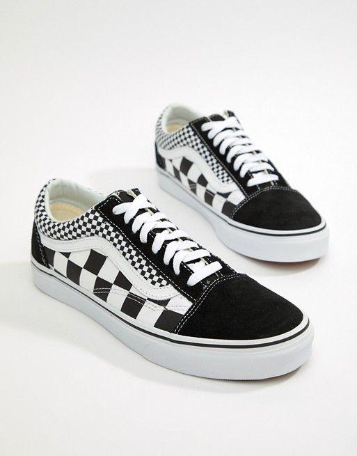 Vans Old Skool checkerboard trainers in