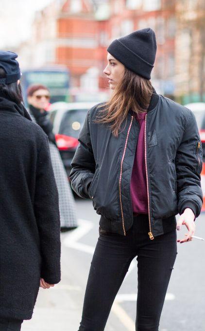 girl in bomber jacket, i die | Bomber Jackets | Pinterest | Paris ...
