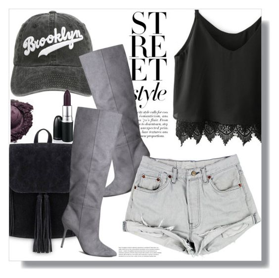 """""""Street Style"""" by queenvirgo on Polyvore featuring BCBGMAXAZRIA and H&M"""