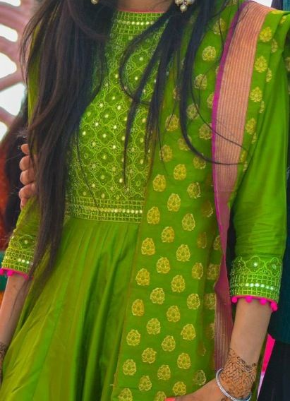 Eid suits and patiala on pinterest - Peach and red combination ...