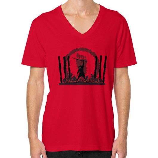 The Foot Clan V-Neck (on man)