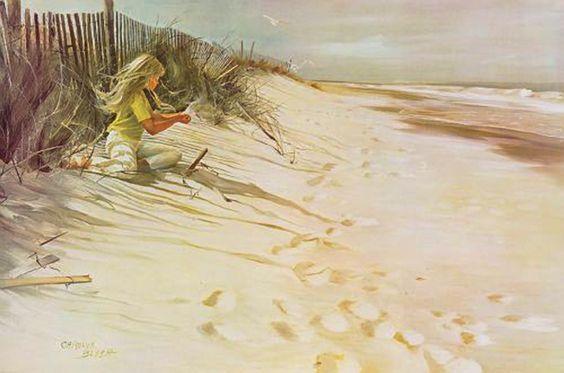 Blish, Carolyn (b,1928)- Playing in Dunes -2b
