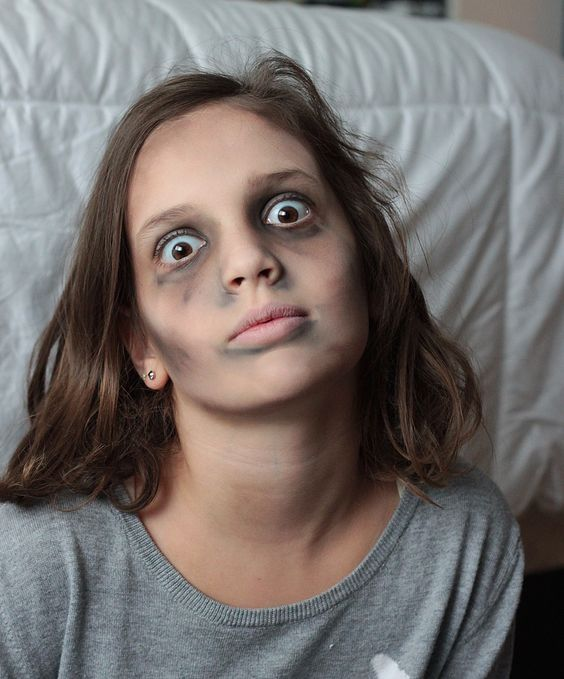 Basic zombie makeup for kids