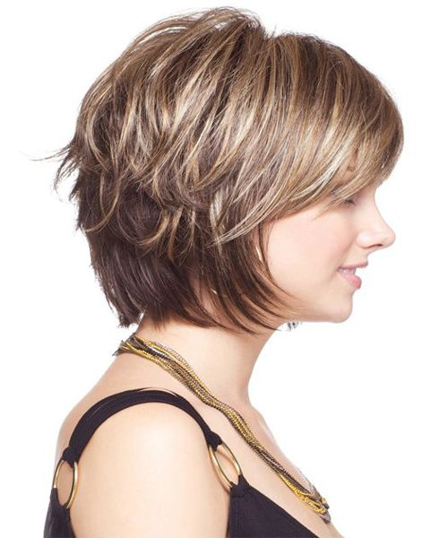 Neck Length Bob Hairstyles 2018 Chunk Of Style Haircut For Thick Hair Short Hair With Layers Short Hair Styles
