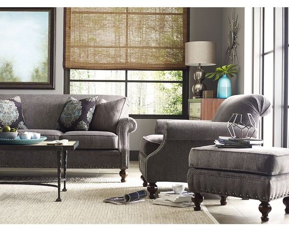 Collier Sofa, Chair, And Ottoman//Thomasville Portland//Living