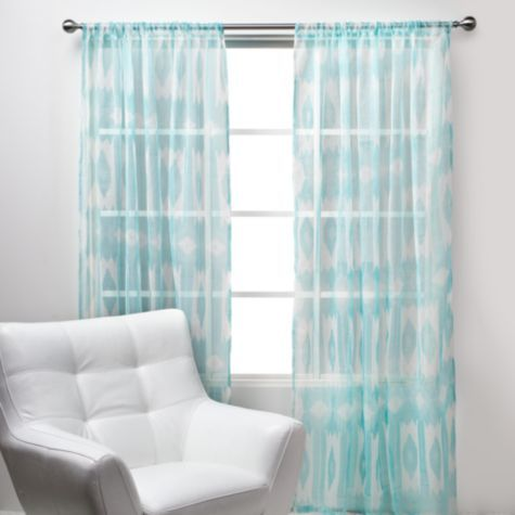esha panels - #aquamarine from z gallerie #ikat #teal #curtains