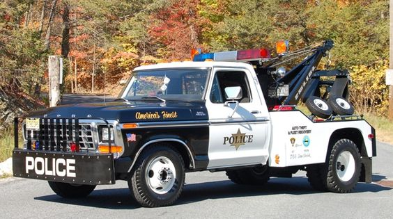 1978 Ford 350 With A Holmes 440 Body Tow Truck Trucks Police Truck