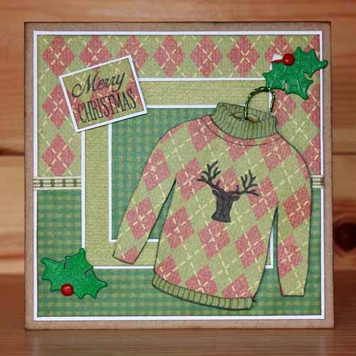 Introducing CS147D 'Festive Jumpers' designed by the very talented Sharon Bennett. Build and design your own festive jumpers this holiday season. Card by Sally Dodger: