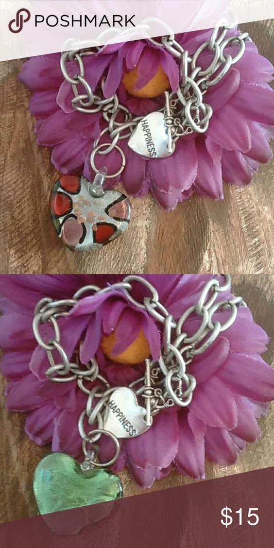 Beautiful Glass Heart Necklace Beautiful  Blown Glass Heart Happiness Necklace Jewelry Necklaces