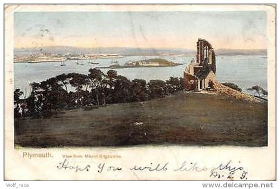 England Plymouth, View from Mount Edgcumbe 1903