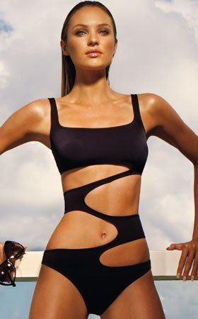 monokini, uhm... This would be the most awkward tan ever. Weird.