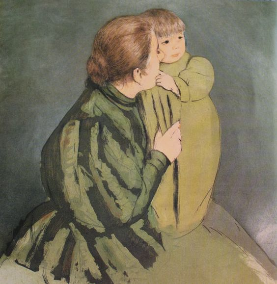 Double-Sided Print by Mary Cassatt Peasant by WhileTheySlept