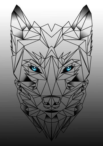 geometric wolf tattoo project pinterest wolves and. Black Bedroom Furniture Sets. Home Design Ideas