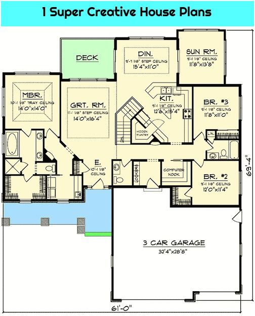 Pin By Lorenza Whipple On House Plan In 2020 House Plans Ranch House Plans How To Plan