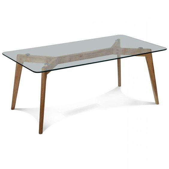 mesa comedor madera cristal xx