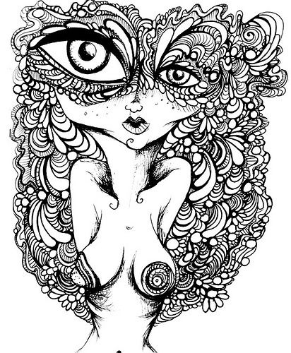 19 best coloring pages images on pinterest drawings coloring books and mandalas - Trippy Coloring Book