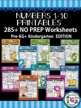 VIEW A FREE SAMPLE OF THIS PRODUCT- Number 3-Math Worksheet-PRE-KG+KG FREEBIESAVE 50% WITH THIS BUNDLE OF NUMBER ACTIVITY PACKS FOR NUMBERS 1-10. WITH THIS BUNDLE, EACH PACKAGE WILL COST YOU ONLY $1.00 INSTEAD OF $3.00.This resource targets number sense for number 1-10 and includes over 280 WORKSHEETS to teach and reinforce number concepts for 1-10.