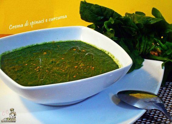 Crema di spinaci e curcuma una ricetta primi piatti semplice e veloce da preparare sana e nutriente adatta a tutti coloro che seguono una dieta leggera