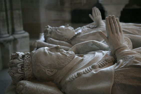 Original - Tombs of Henry II of France and his wife Catherine de' Medici in Basilica of St Denis, Paris