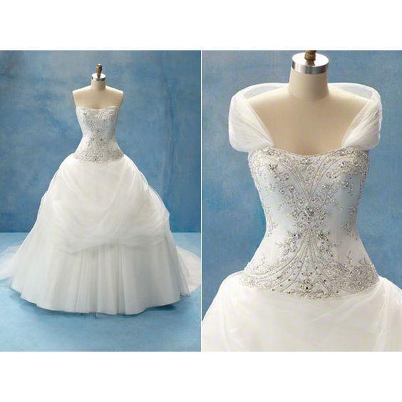 Vestidos de noiva das Princesas Disney ❤ liked on Polyvore